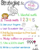 Math Strategies Anchor Chart