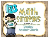Math Strategies Anchor Charts
