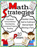 Math Strategies Anchor Charts, 20 Posters, CCSS 2.NBT.B.5, Add and Subtract
