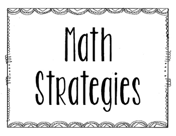Math Strategies - Bilingual - Dual Language - English & Spanish