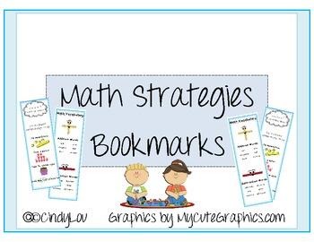 Math Strategies Bookmarks