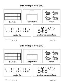 Math Strategies Chart (Kindergarten / 1st Grade)