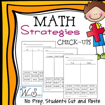 Math Strategies: Check Up Sorts