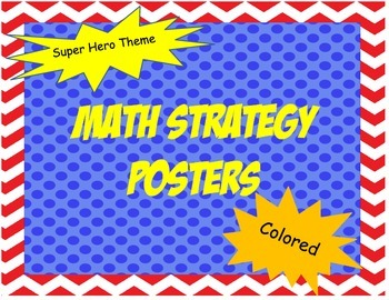 Math Strategies Colored Posters- Primary
