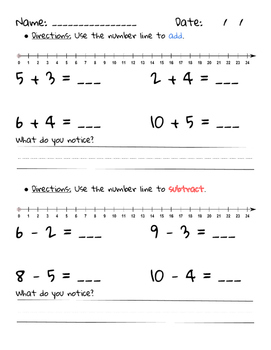 Math Strategies: Counting on and Number Line Practice