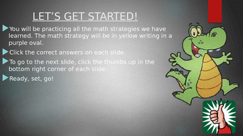 Math Strategies Interactive PowerPoint