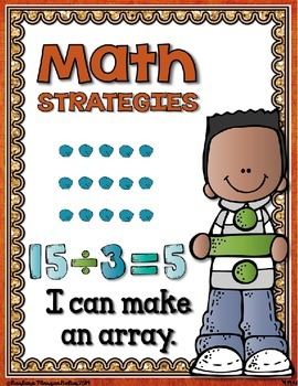 Math Strategies {Multiplication and Division} Mini-Anchor Charts Red/Orange