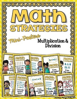 Math Strategies {Multiplication and Division} Mini-Anchor Charts YELLOW
