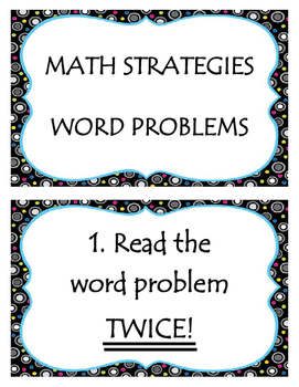 Math Strategies Poster- Word Problems