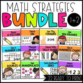 "Math Strategies Posters ""BUNDLE"""