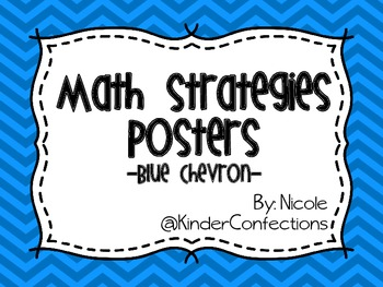Math Strategies Posters- Blue Chevron