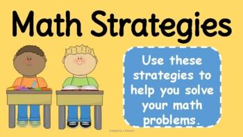 Math Strategies Posters- No Prep
