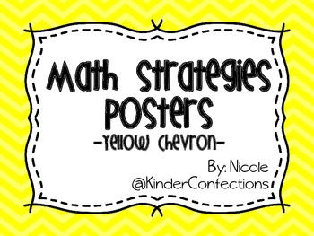 Math Strategies Posters- Yellow Chevron
