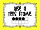 Math Strategies Posters- Yellow Chevron