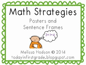Math Strategies! Posters and Sentence Frames