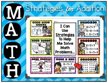 Math Strategies Posters {for Addition} First Grade Common Core