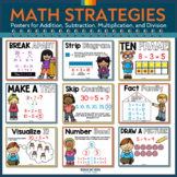 Math Strategies Posters for Addition, Subtraction, and Counting