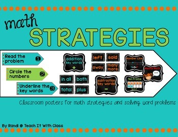 Math Strategies Posters {turquoise}