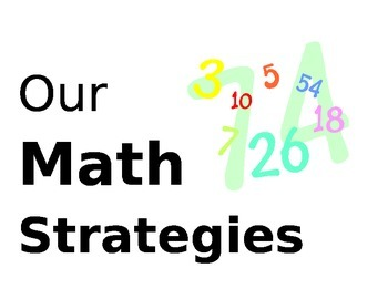 Math Strategies Posters/Charts