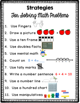 Math Strategies Reference Poster