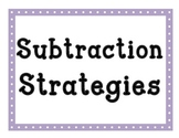 SUBTRACTION Strategies - Math Posters