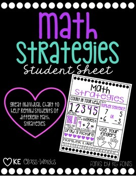 Math Strategies Student Sheet