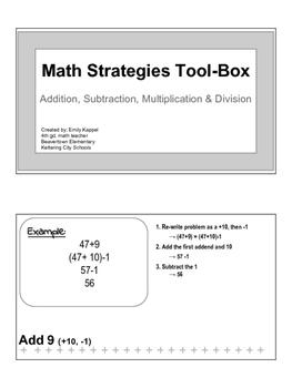 Math Strategies Tool Box