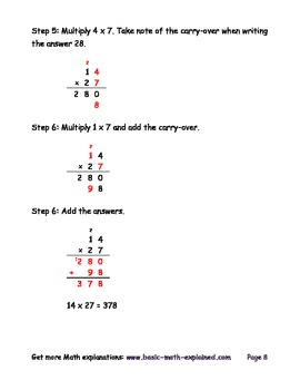 Math - Strategies for Long Multiplication, Multiplying Multi-digit Numbers