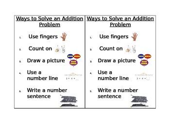 Math Strategies for Math Journals