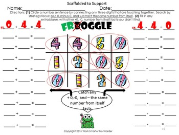 Math Strategies made fun with Froggle