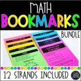 Math Strategy Bookmarks | Student Math Bookmarks | Bookmarks Bundle