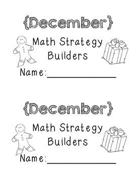 Math Strategy Mini Journals December