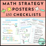Math Strategy Anchor Chart Posters & Checklists - Add Subt