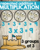 Math Strategy Classroom Posters / Signs Beach Themed Weathered Wood