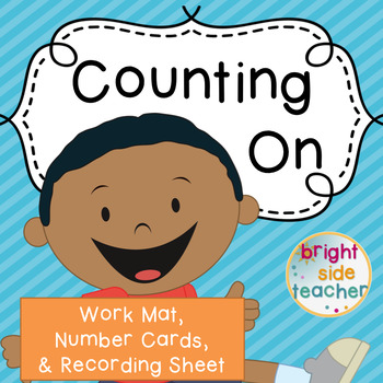 Math Strategy: Counting On Work Mat {Freebie}