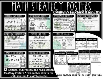 Math Strategy Farmhouse Posters