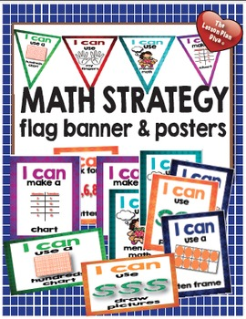 Math Strategy Flag Banner and Posters