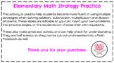 Math Strategy Fluency Practice