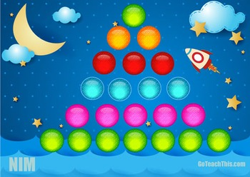 Math Strategy Game - NIM - Addition & Subtraction (16 Diff