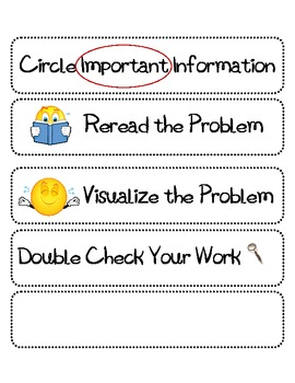 Math Strategy Labels for Problem Solving