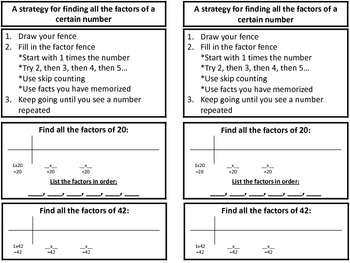 Math Strategy Notebook - Multiplication Skills