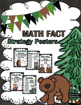 Math Strategy Posters For Math Fact Fluency