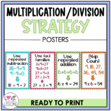 Math Strategy Posters: Multiplication and Division