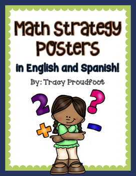Math Strategy Posters (in English and Spanish)