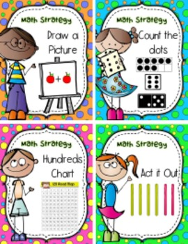 Math Strategy Posters (plus key ring cards)-- for your FOCUS board