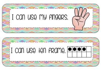 Math Strategy Strips