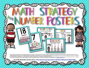 Math Strategy and Number Posters