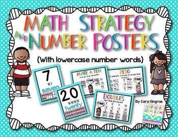 Math Strategy and Number Posters {lowercase number words-per request}