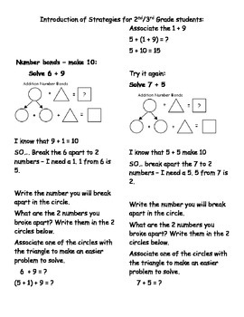Math Stratgies Using Doubles, Make Ten and the Associative Property