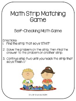 Math Strip Matching
